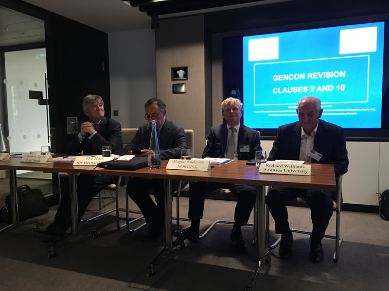 Members of the panel l-r Andrew Taylor, Sir Bernard Eder(Chairman), Magne Andersen and Richard Williams